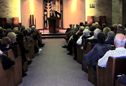 Rabbi Address speaking at Anshe Chesed Fairmount Temple, Beachwood, OH