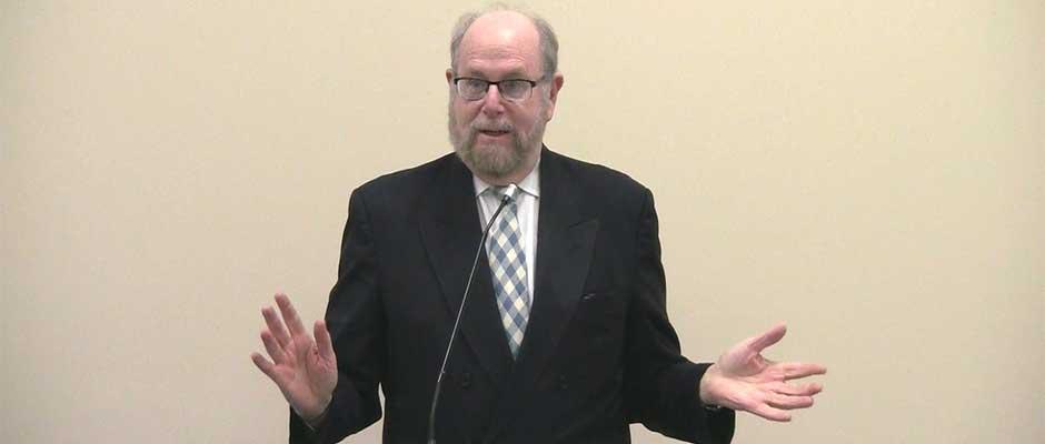 Rabbi Richard Address speaking to the South Jersey Men's Club, on January 26, 2014.