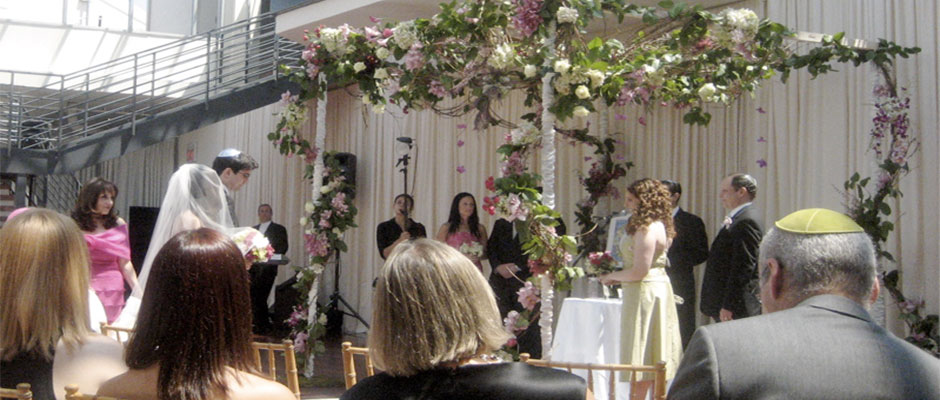 Approaching the chuppah by Mariko, on Flickr, used by permission.