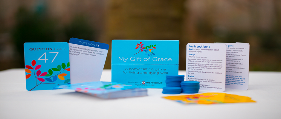 """My Gift of Grace"" is a card game designed to facilitiate family discussions about death and dying. Its creators, Nick Jehlen and Jethro Heiko, founders of The Action Mill design firm, are guests on this week's Boomer Generation Radio program"
