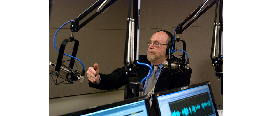 Rabbi Address at the WWDB-AM 860 microphones. The Boomer Generation Radio Show airs every Tuesday from 10-11 am.