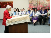 Mrs. Agnes Herman shares the story and some thoughts about her and her husband's acquisition of the Yanov Torah at the dedication ceremony in November 2008. The Yanov Torah was subsequently donated to HUC-JIR/LA and often taken by rabbinical students to their student pulpits throughout the Western Region. Read more about it here.