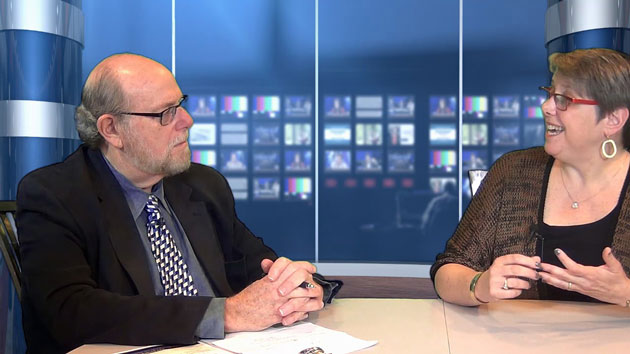 """Rabbi Address and Rabbi Dayle Friedman discuss spirituality and aging on this episode of """"Conversations"""" from JSA TV."""