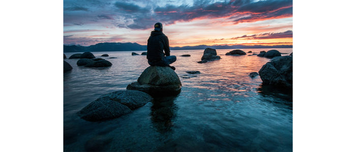 """Serenity Now Moment at Lake Tahoe,"" Photo by Keegan Houser on Unsplash"